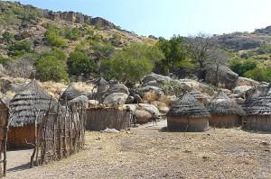 Village near Kau, Nuba Mountains, Sudan. (Rita Willaert photo)