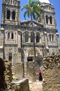 A cathedral (St. Joseph's) on the Muslim-majority island of Zanzibar. (Wikipedia)