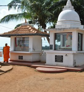 Buddhist shrine in Kilinochhi, Sri Lanka, where 50 cases of violence to Christians took place this year.