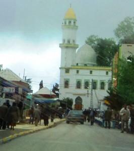Mosque in Larbaa Nath Irathen, 25 kilometers from Tizi Ozou, Algeria, was formerly a church building.