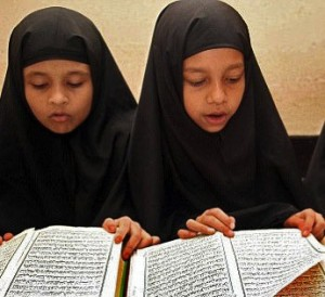 Muslim children-at-Saudi-funded-weekend-schools-in-Britain. (undhimmi.com photo)