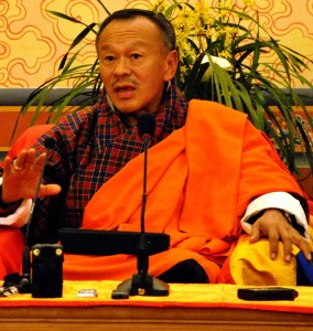 Prime Minister Jigmi Thinley of Bhutan, where religious freedom for Christians is lacking.