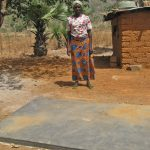 Alice Saul, at the grave of her son, Felix Saul, killed at age 22 by the suspected Fulani Muslim gunmen.