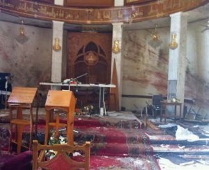Damage to Our Lady of Salvation Syriac Catholic Church in Baghdad by Islamic extremists. (Ankawa.com photo)