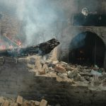 More than 180 homes and shops were reduced to rubble in Islamic rampage in Lahore. (M. Ali photo)