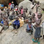 Thousands of Nuba Mountain civilians have taken refuge from government bombing in caves. (Diocese of El Obeid photo)