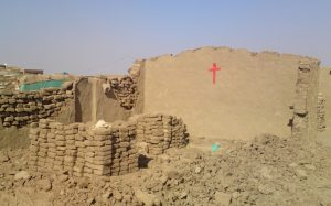 A Sudan Pentecostal Church building the government bulldozed earlier this year. (Morning Star News photo)