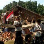 Demolished Batak Protestant Christian Church (HKBP) building in Bekasi, outside Jakarta.