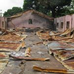 Interior of Kirim village Church of Christ of Nigeria building after attack. (Morning Star News photo)