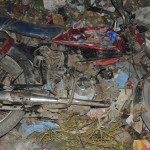Motorcycle thrown in garbage dump by Muslim mob in attack on Christians in Gujranwala, Pakistan. (The Voice Society photo)