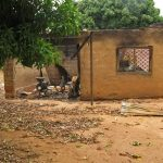 Pastor John Dakwat's burnt house. (Morning Star News)