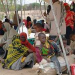 Somali refugees in border town of Liboi, Kenya, en route to other parts of Kenya. (UNHCR photo)