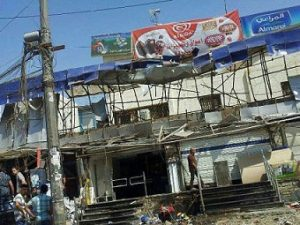 Bombed Warda Store in Baghdad, Iraq. (AINA photo)