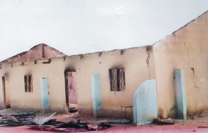 COCIN church building in Zango, Plateau state, burned by Muslim extremist assailants. (Morning Star News photo)