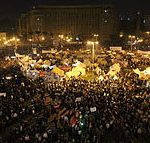 Egyptians protesting against President Mohamed Morsi in Cairo's Tahrir Square on Nov. 27, 2012. (Gigi Ibrahim photo)