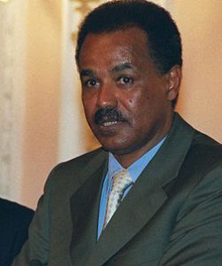 Eritrean dictator Isaias Afewerki in 2002.