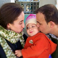 Krimo Siaghi with wife Yakout and their daughter. (Spirit of Martyrdom photo)
