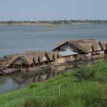 Floating restaurant on the Mekong River, Savannakhet, Laos. (Morning Star News via Wikipedia)