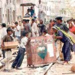 On the streets of central Karachi (Morning Star News via Pakistanrail.com)
