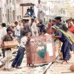 On the streets of central Karachi (Morning Star News via Pakistanrail.com)