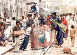 On the streets of central Karachi. (Morning Star News via Pakistanrail.com)