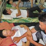 Protestors injured in confrontation with authorities in north-east Vietnam. (FVCMM)