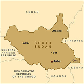 South Sudan (CDC map)