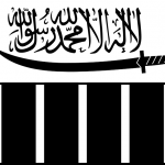 Flag of Lashkar-e-Taiba, predecessor of Jamaat ud Dawa, responsible for persecution of Christians. (ArnoldPlaton, Wikipedia)