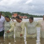 Newly baptized believers in Putumayo River. (Morning Star News, David Miller)