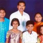 The Rev. Orucanti Sanjeevi with family members. (Morning Star News via Sanjeevi family)