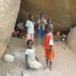 Nuba people have taken refuge from bombing in caves. (Diocese of El Obeid)
