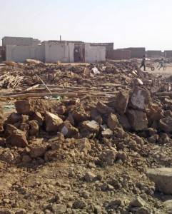 Sudanese authorities left a Presbyterian Church of Sudan building in ruins in January 2013. (Morning Star News)