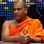 Galagoda Aththe Gnanasara, general secretary of the Buddhist extremist Bodu Bala Sena, on Helabima TV Hiru. (YouTube)