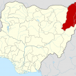 Borno state, Nigeria, where Islamic extremists with Boko Haram kidnapped Christian girls. (Wikipedia)