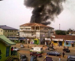 Area of mainly Christian-owned shops in central Jos, Nigeria, after May 20 blasts. (Morning Star News)