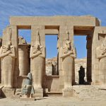 Ramesseum, memorial temple of Pharaoh Ramesses II, near Luxor. (Marc Ryckaert, Wikimedia)