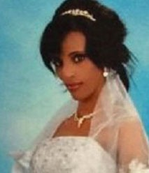Meriam Yahi Ibrahim in wedding photo posted on Facebook.