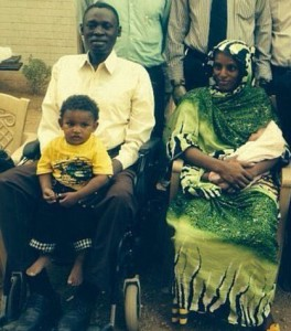 Meriam with family after her release on June 23. (Shareif Ali Shareif)
