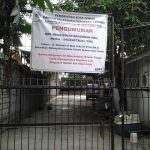 Sign sealing shut a church building in Cimahi, West Java. (Morning Star News)