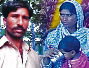 Composite of Shahzad Masih and Shama Bibi. (Morning Star News)