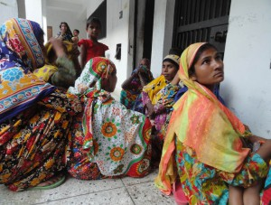 Some of those detained at meeting await release at Lalmonirhat police station, Bangladesh. (Morning Star News)