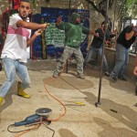 Young men with ties to Palestinian militants attack volunteer workers at Living Bread Church on Oct. 16. (Morning Star News photo by Sarah Spaeth)