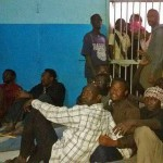 Arrested Christians of Bahri Evangelical Church in jail in North Khartoum. (Morning Star News)