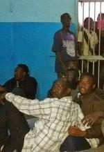 Arrested Christians of Bahri Evangelical Church in jail in North Khartoum. (Morning Star News)