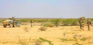 AMISOM troops from Djibouti in Belesweyne, Somalia. (Ilyas A. Abukar, Wikpedia)