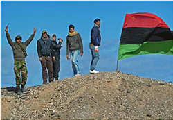 Libya has become lawless since anti-Gaddafi fighters of the National Transitional Council took power in 2011. (Wikipedia)