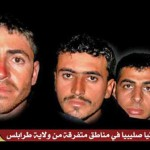 Photo of some of kidnapped Copts on The International Jihad Network Libya website. (Morning Star News)