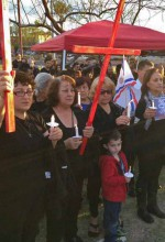 Assyrians in Phoenix, Arizona protest Islamic State treatment of Assyrians in Syria. (AINA)