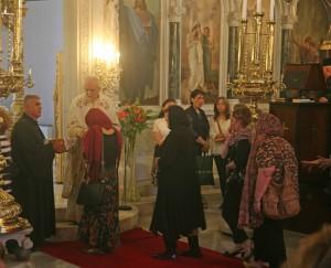 Service at Hagia Triada (Holy Trinity) Greek Orthodox Church in Istanbul. (Morning Star News)
