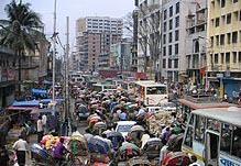 Dhaka, Bangladesh. (Wikipedia)